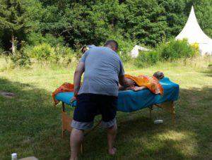 Massage buiten VakantieAnders