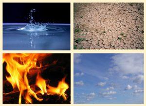 Het effect van de verschillende elementen; water, lucht, aarde en vuur | VakantieAnders